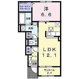 クレメント津志田B[1階]の間取り