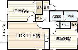 CLAIR NISHIKAWA[2階]の間取り