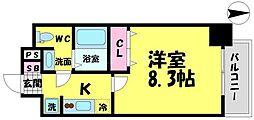 アドバンス大阪城エストレージャ[2階]の間取り