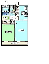ロイヤルハイツ玉穂III[2階]の間取り