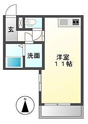 愛知県名古屋市東区新出来2の賃貸アパートの間取り