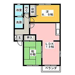 ライトタウンA・E・G[1階]の間取り