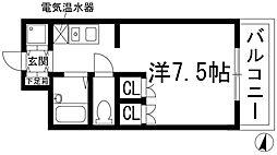 兵庫県西宮市下大市東町の賃貸マンションの間取り