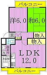 パークシティ白扇1・2号棟[2階]の間取り