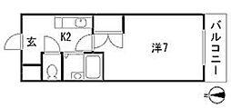 メゾン増井[4階]の間取り