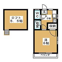 アメニティ東仙台A[2階]の間取り