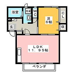 リンピアIIA[2階]の間取り