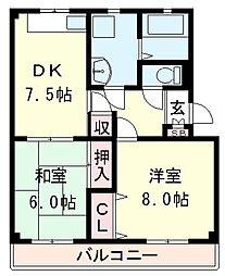 ヒルバレーマンション[3階]の間取り