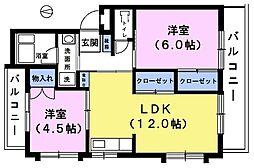 ホワイトマンション[1階]の間取り