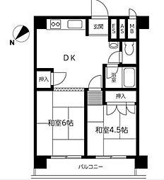 松戸第八マンション[4階]の間取り