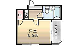 EST山坂[4階]の間取り
