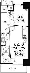 Zeus西梅田premium[5階]の間取り