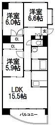 北海道札幌市西区発寒三条5丁目の賃貸マンションの間取り