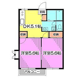 グランメールB棟[2階]の間取り