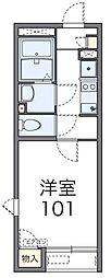 東京都三鷹市野崎2丁目の賃貸アパートの間取り