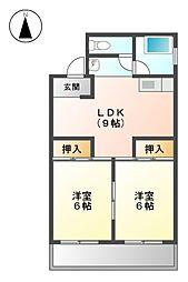 サンシャトー吉田[4階]の間取り