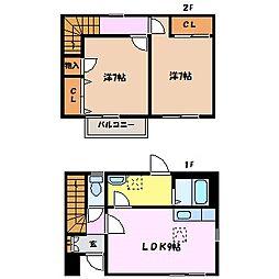 ムーングローリB[1階]の間取り