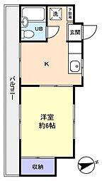 スカイコーポ[1階]の間取り