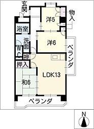 メゾンムラセ[6階]の間取り