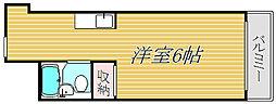 東京都目黒区五本木1丁目の賃貸マンションの間取り
