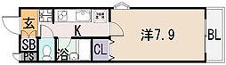 STUDIO[9階]の間取り