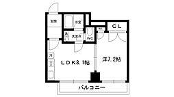 ラ・セーヌ西宮[2階]の間取り