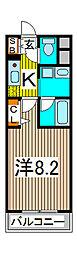 埼玉県さいたま市南区鹿手袋3丁目の賃貸マンションの間取り