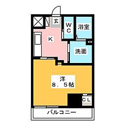 Field Village Hirosumi 3階1Kの間取り