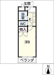 HKマンション野並[3階]の間取り