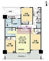 ライオンズ横濱磯子レジデンシャルテラス[3階]の間取り