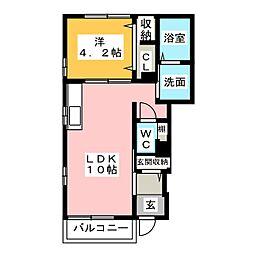 メゾンド クレール[1階]の間取り