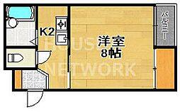 京都アパートメント4[202号室号室]の間取り