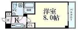 Osaka Metro御堂筋線 新大阪駅 徒歩9分の賃貸マンション 9階1Kの間取り