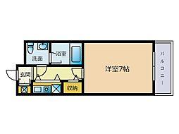 エステートモア大濠5[2階]の間取り