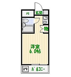 イエロ—エンバシー[3階]の間取り