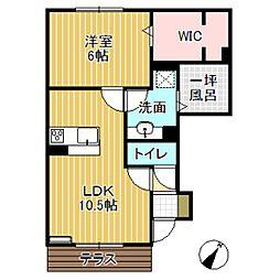 D-roomアシュラン[1階]の間取り