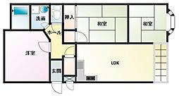 東二見MCマンション[3階]の間取り