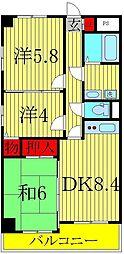 ウラニア天王台[2階]の間取り