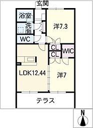 シルキーハウス[1階]の間取り