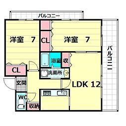 アビタシオン橋本3[3階]の間取り