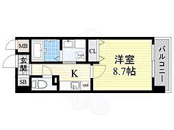 JR東海道・山陽本線 岸辺駅 徒歩4分の賃貸マンション 1階1Kの間取り