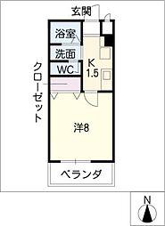 メゾンショワール[2階]の間取り