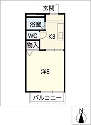 ヴェルディー小幡[2階]の間取り