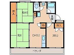 太田団地10159[2階]の間取り