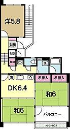OHANA COURT-1[4階]の間取り