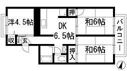兵庫県伊丹市中野北1丁目の賃貸アパートの間取り