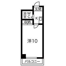 都筑マンション[4階]の間取り
