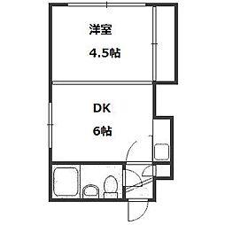 サニーハイツNo3[2階]の間取り