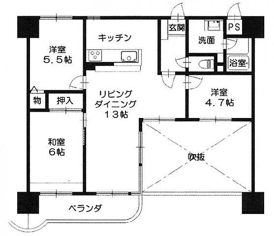 ネオハイツ浜田町 4階/-