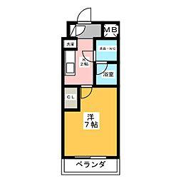 プロシード金山[6階]の間取り